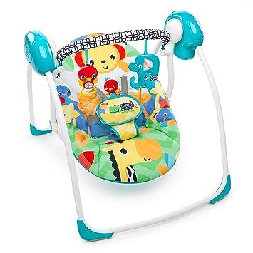 e11130a9d Amazon.com   Bright Starts Safari Smiles Portable Swing   Baby