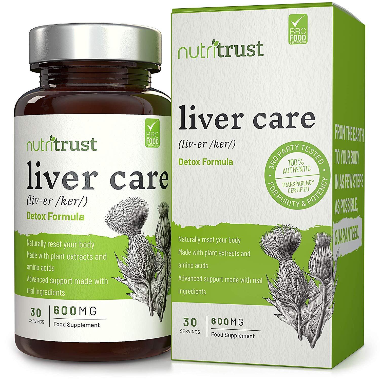 Cápsulas Hígado 4500 Mg Nutritrust® - Fórmula depurativa alta potencia –Protección Hígado y Salud Vesícula – Reajuste su organismo de modo natural con una ...