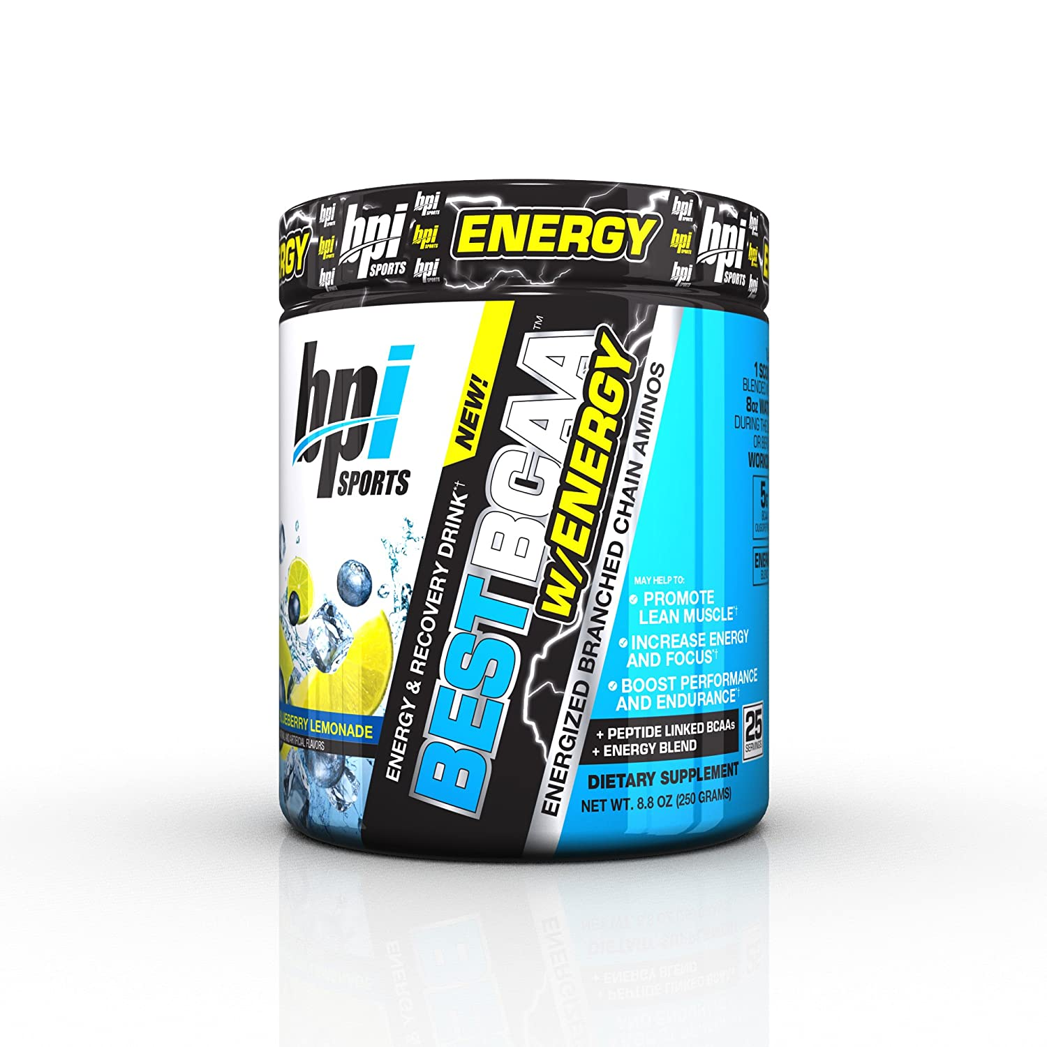 BPI Sports Best BCAA with Energy & Pre Workout, Blueberry Lemonade, 8.8 Ounce