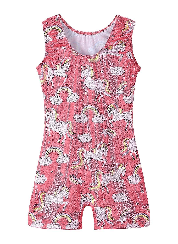36df9b57bcce Amazon.com  Leotards for Girls Gymnastics Unicorn Sparkly Pink ...