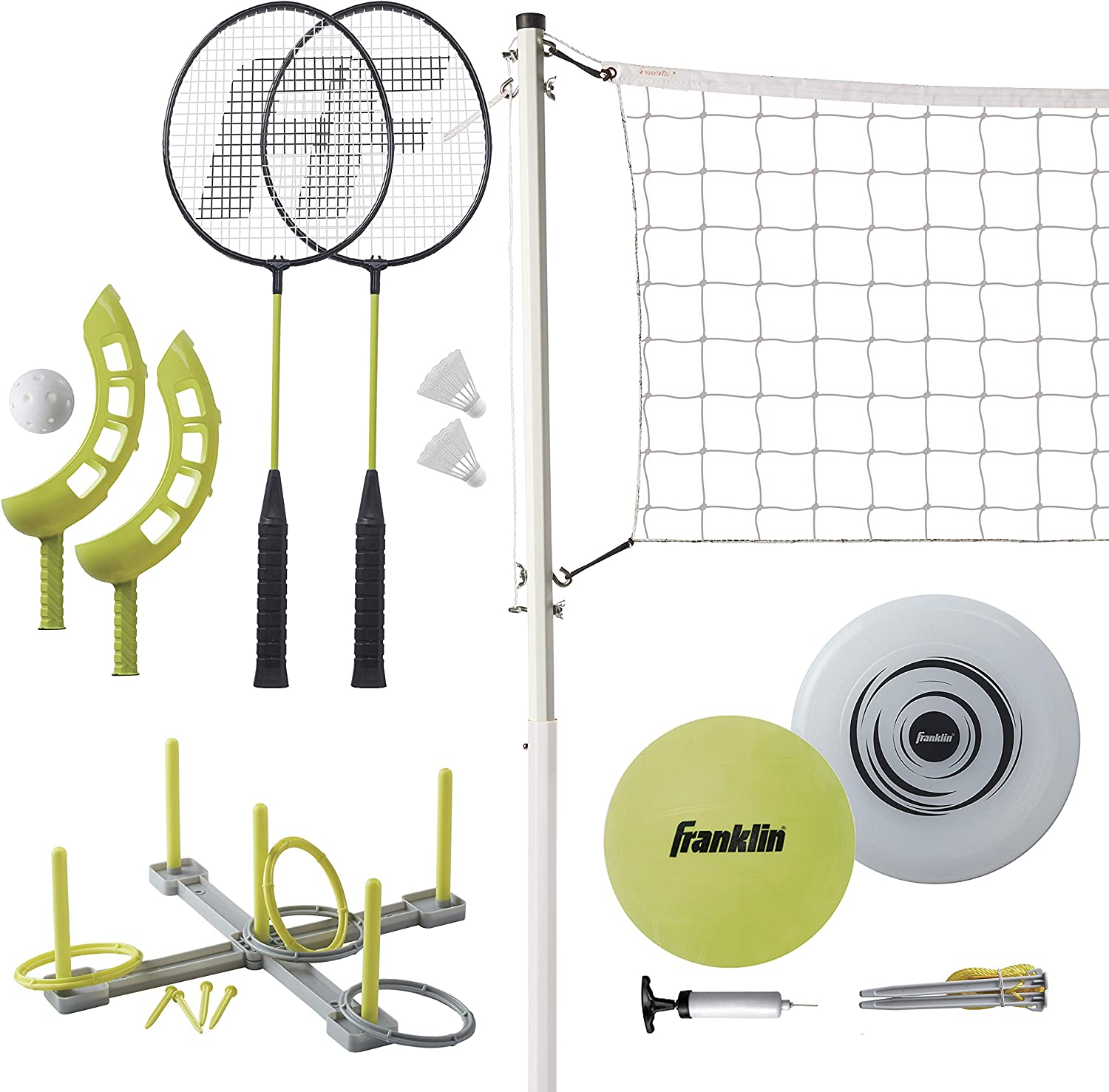 Franklin Sports Family Volleyball Badminton Combo Set