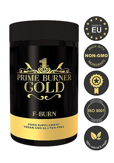 Prime Burner Gold | Suplemento Dietético 100% Natural Para Keto Dieta| Fórmula Activa | Ingredientes Naturales Quemagrasas | Vegano | Certificado Por ...