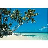 Tropical Beach Backdrop Banner (9 Ft. X 6 Ft.) Vinyl