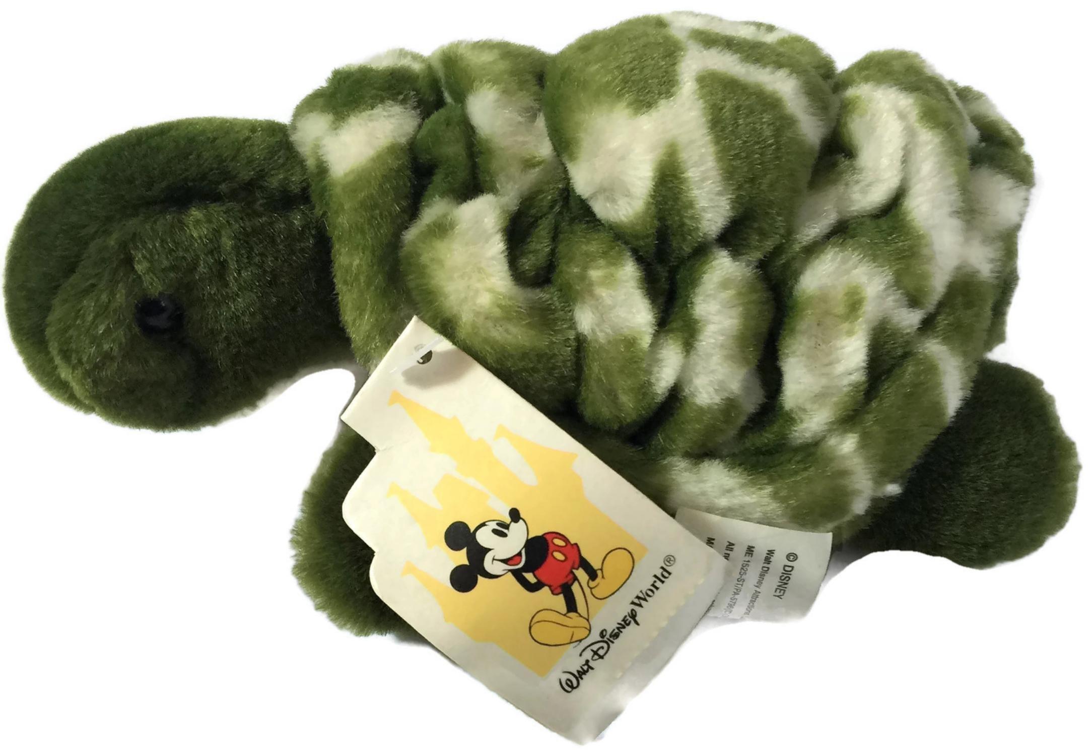 Disney's Living Seas Epcot Green Sea Turtle Plush Stuffed Animal 7''