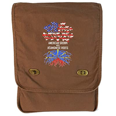 Tenacitee American Born with Réunionese Roots Canvas Field Bag