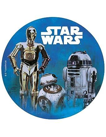 Star Wars – oblea para decoración de tartas, 8.0 in: Amazon ...