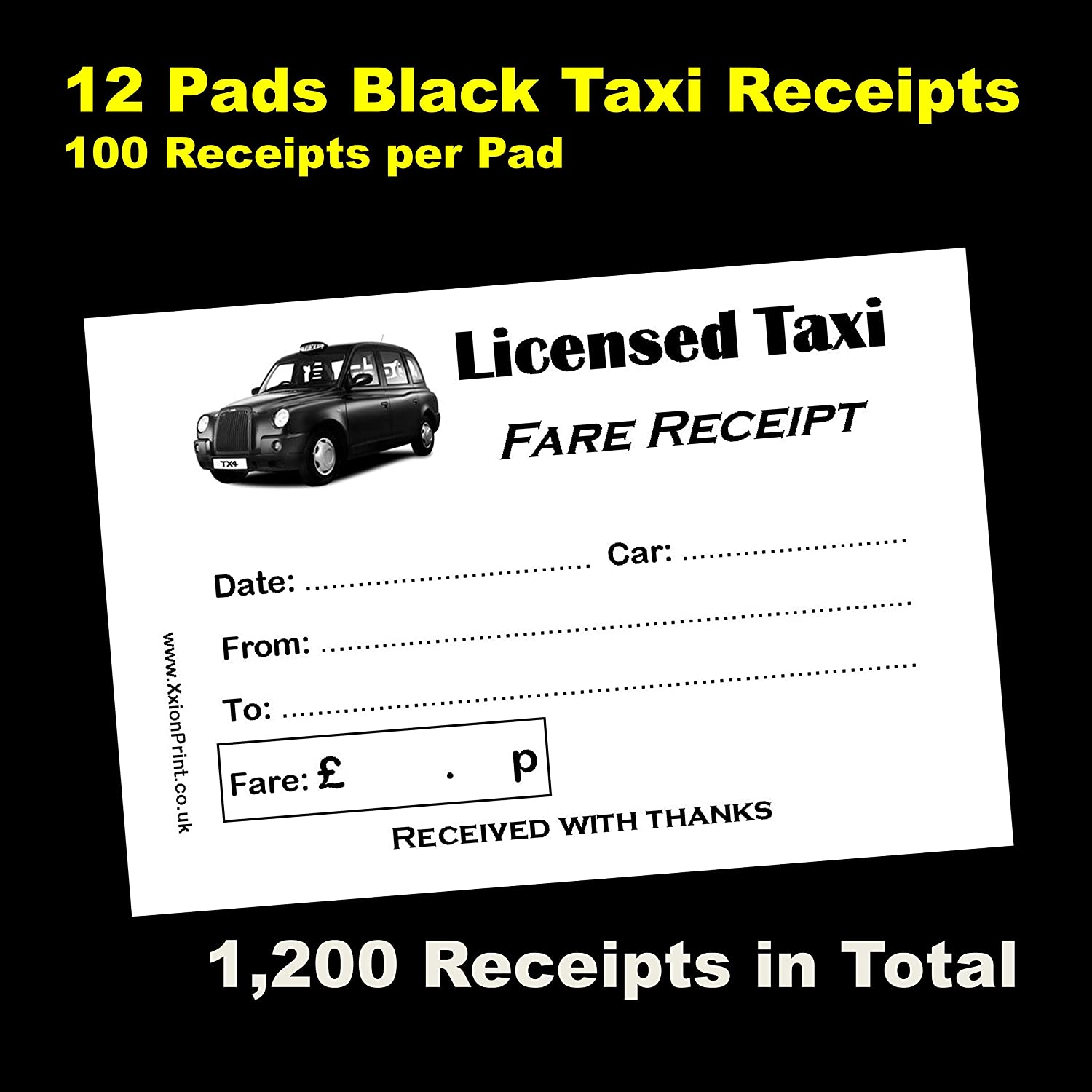 Mechanic Receipt Excel Licensed Taxi Driver Receipt Bookpads  For London Black Cab  Evernote Receipt Scanner Excel with Po Invoice Word Black Cab Or Licensed Taxi Fare Receipt Pads  Pack Of  X  Sheet Pads My Invoice And Estimates