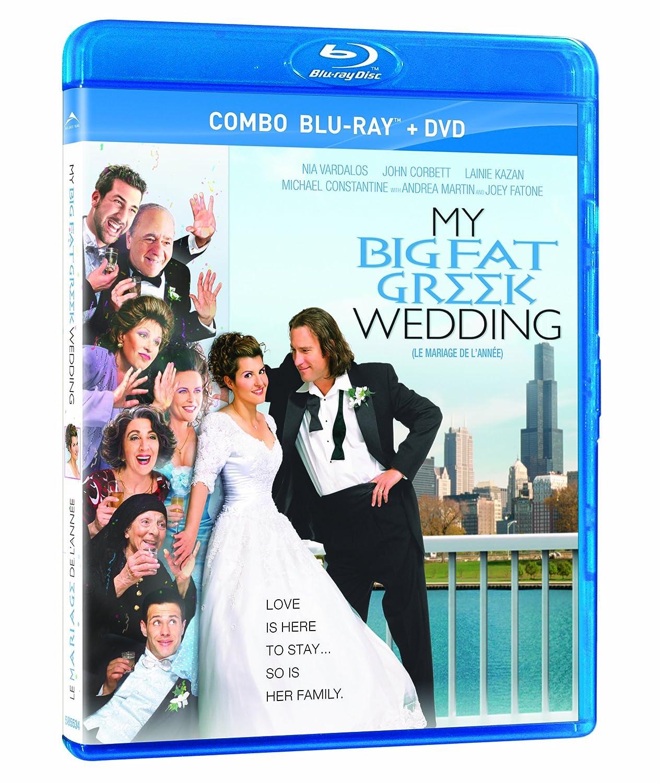Amazon Com My Big Fat Greek Wedding Blu Ray Dvd Nia Vardalos Michael Constantine John Corbett Lainie Kazan Andrea Martin Joel Zwick Movies Tv