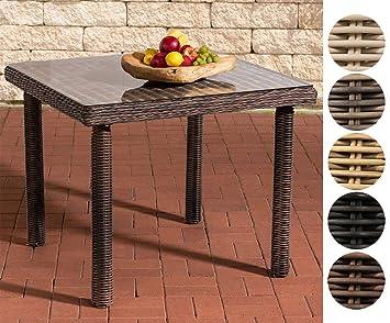 Clp Polyrattan Gartentisch Puerto Rico Mit Einer Tischplatte Aus