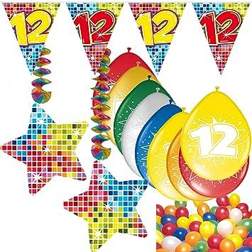 54 Set de decoración de fiesta Set * Número 12 * Cumpleaños ...