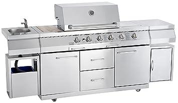 allgrill gas bbq outdoor kitchen professional amazon co uk garden