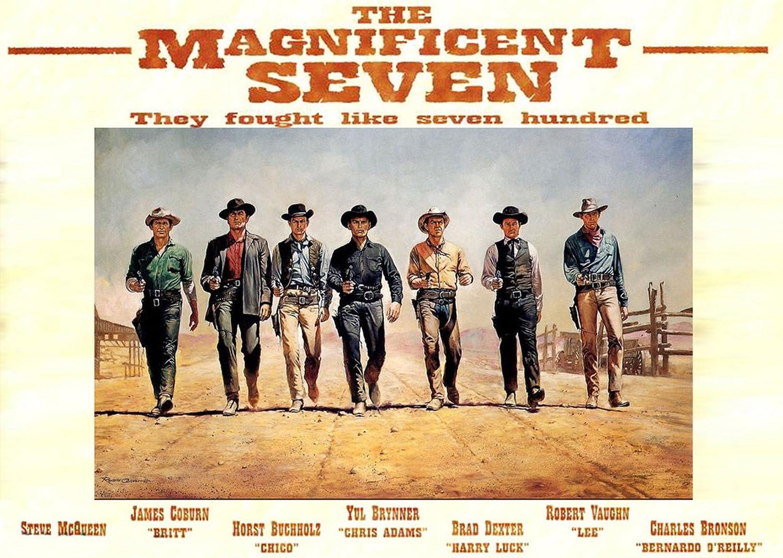 Amazon.com: Gatsbe Exchange XL Poster 16x20 Magnificent 7 Seven ...