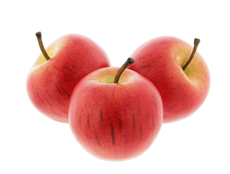 Larksilk Set of 3 Fake Red Apple Replica Props