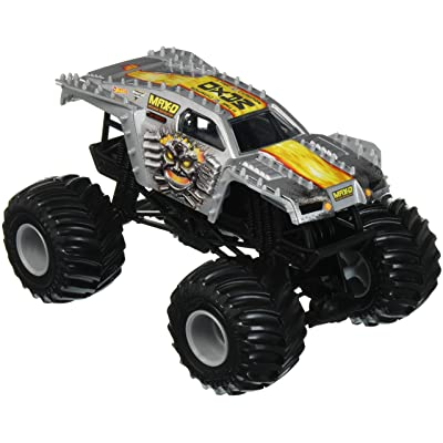 Hot Wheels Monster Jam Max-D Vehicle, Silver 1:24 Scale: Toys & Games