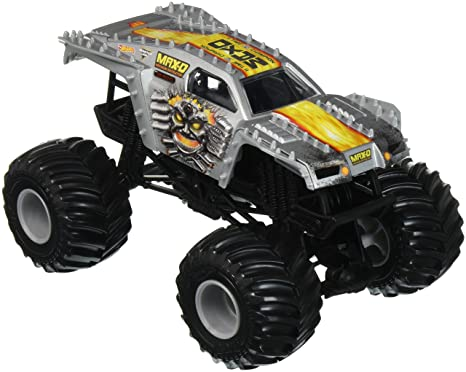 Amazon Com Hot Wheels Monster Jam Max D Vehicle Silver 1 24 Scale