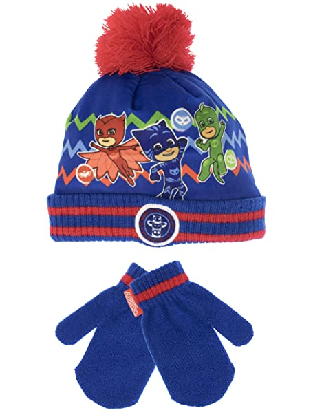 06ac893ea5d22 Image Unavailable. Image not available for. Color  PJ Masks Boys  Catboy  Owlette and Gekko Hat and Gloves Set
