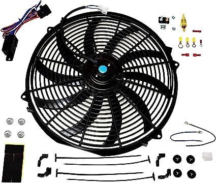 A-Team - Juego de termostato y ventilador para radiador eléctrico ...
