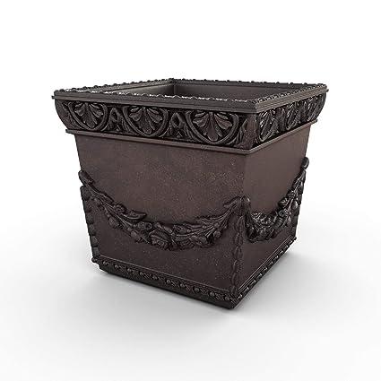 Amazon.com: Gardenstone Anns Garland - Maceta de piedra ...