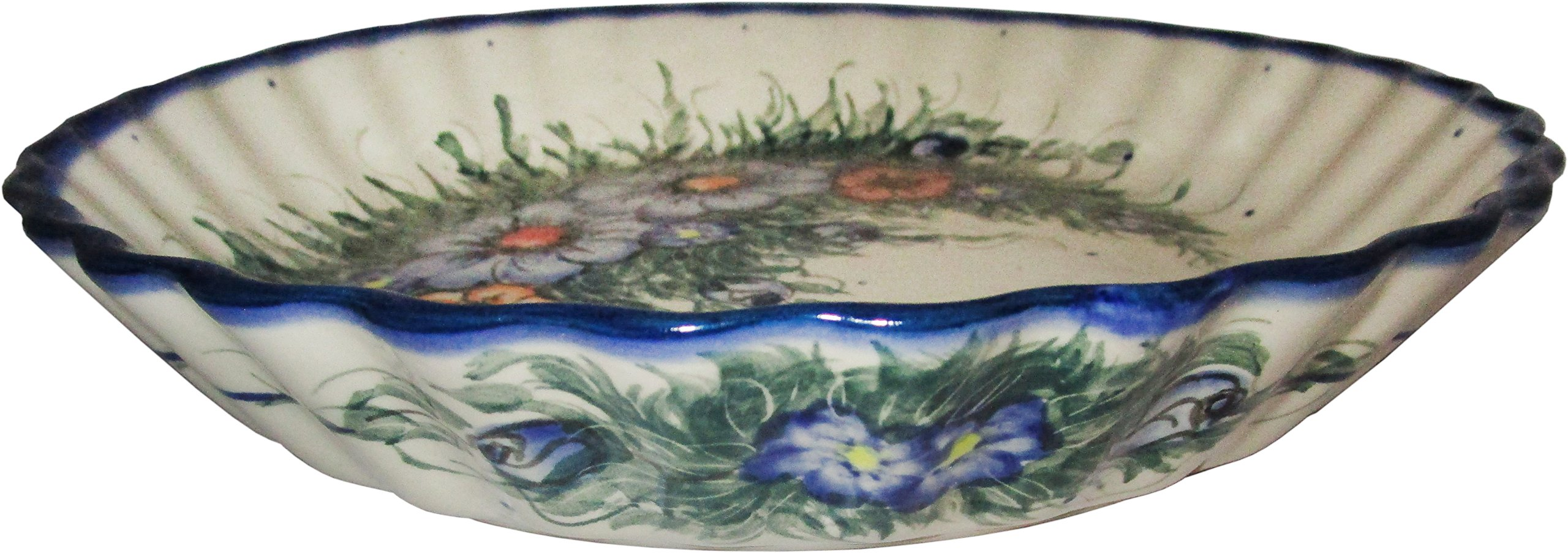 Polish Pottery Pie Plate or Quiche Baker Unikat Eva's Collection ''Wild Field'' by Home of Polish Pottery (Image #1)