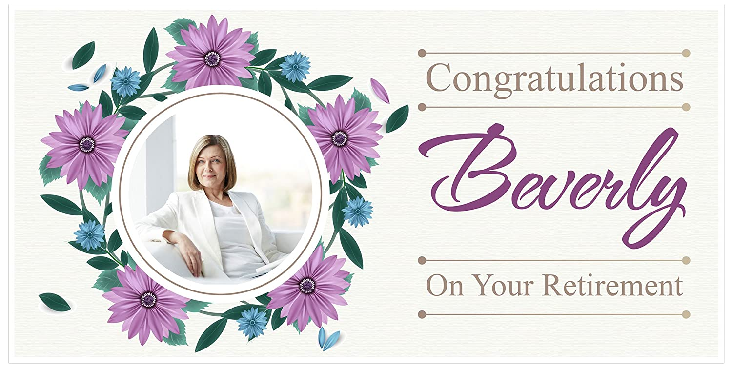 Congratulations on Your Retirement Banner Personalized Decoration