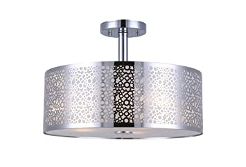 Canarm isf543a03ch piera 3 light semi flush mount with crystal canarm isf543a03ch piera 3 light semi flush mount with crystal chrome mozeypictures Image collections