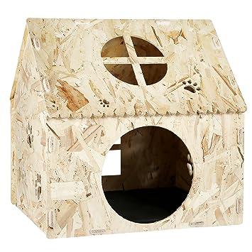 Bonlife - Caseta de Madera para Perro o Gato para Interior y Exterior: Amazon.es: Productos para mascotas