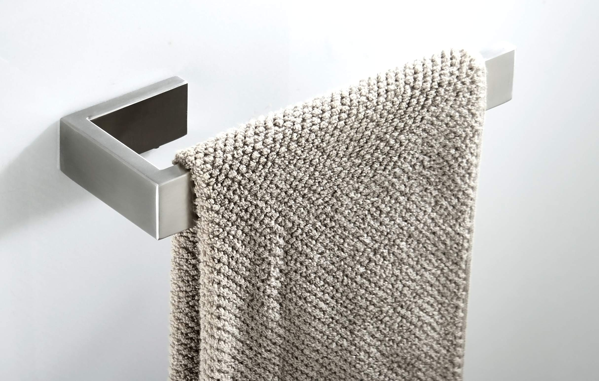 Towel Bar, Hand Towel Holder Stainless Steel SUS 304, Bathroom Hardware Accessory Towel Rack, Contemporary Style, Brushed Nickel Wall Mounted by May & Z