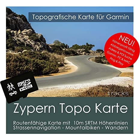 Chipre Garmin tarjeta Topo 4 GB MicroSD. Mapa Topográfico de ...