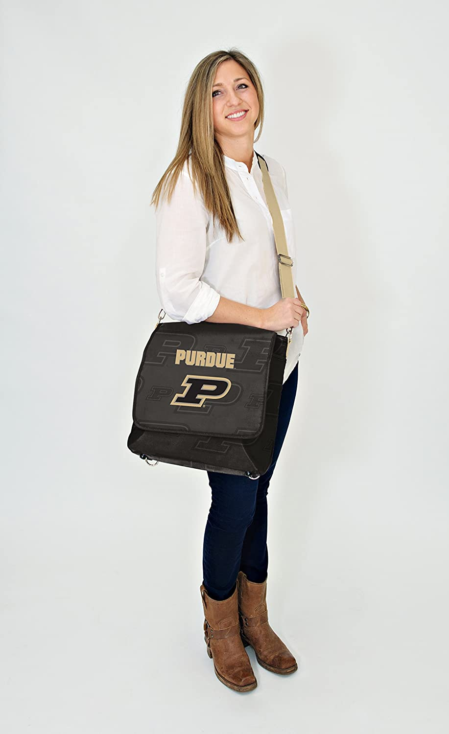 Black Wild Sports NCAA College Purdue Boilermakers Messenger Diaper Bag 13.25 x 12.25 x 5.75-Inch