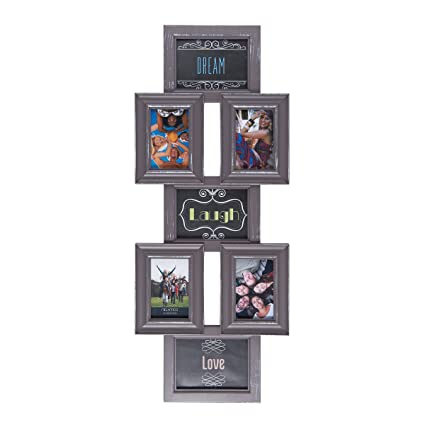 Amazon.com: MELANNCO 7-Opening Wall Mount Collage Picture Frame ...