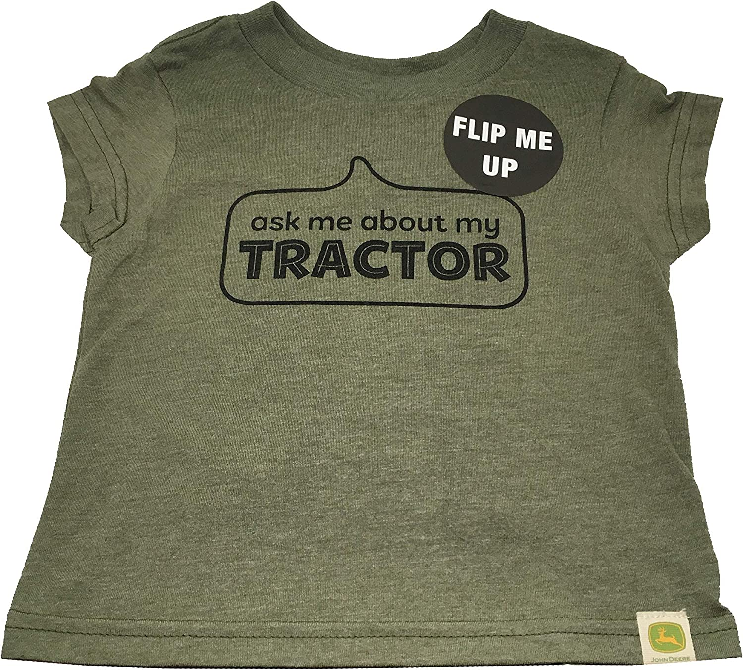 Do Good Today Ask Me About My Tractor T-Shirt in Olive, 2T