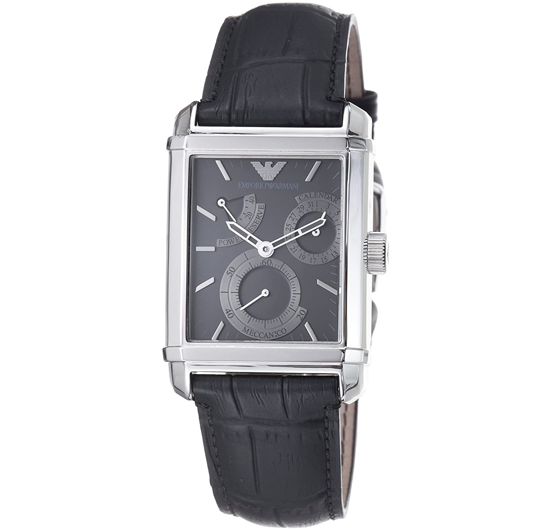 34676ce1bf1a Emporio Armani Men s AR4235 Meccanico Power Reserve Black Dial Watch   Amazon.ca  Watches