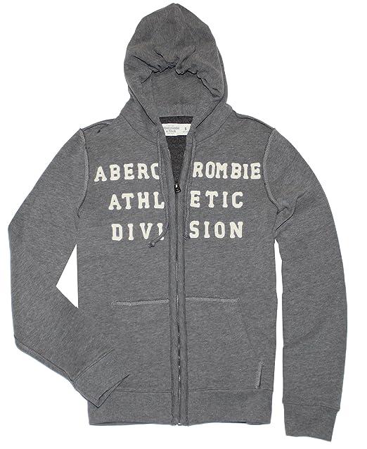 Abercrombie y Fitch para hombre Applique Logo Graphic sudadera con capucha - Gris - : Amazon.es: Ropa y accesorios