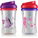Gerber Graduates 2 Piece Advance with Seal Zone Insulated Cup-Like Rim Sippy Cup, Girl, 9oz (Designs May Vary)