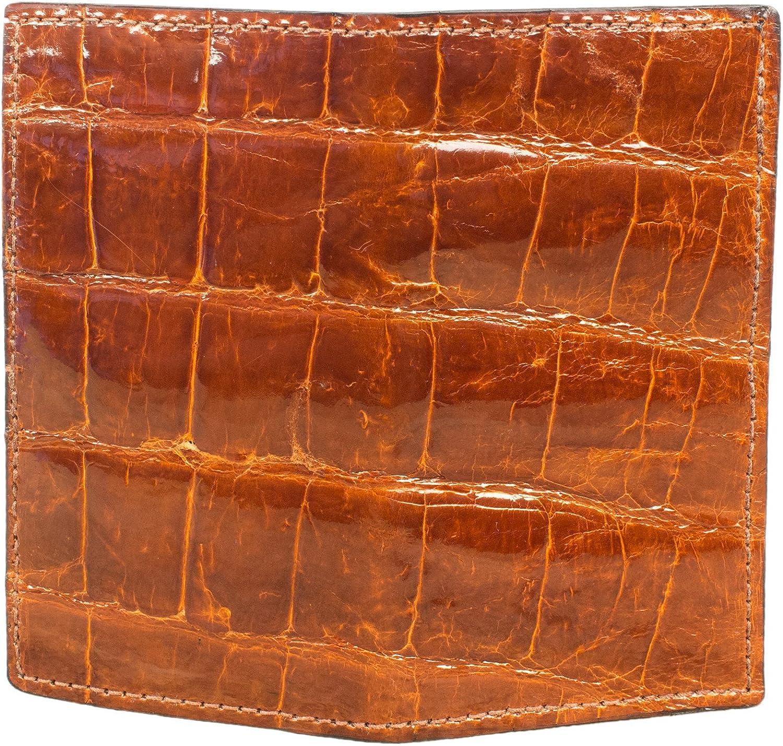 Brown Alligator Checkbook Cover Amish Handmade Genuine Alligator Check Holder
