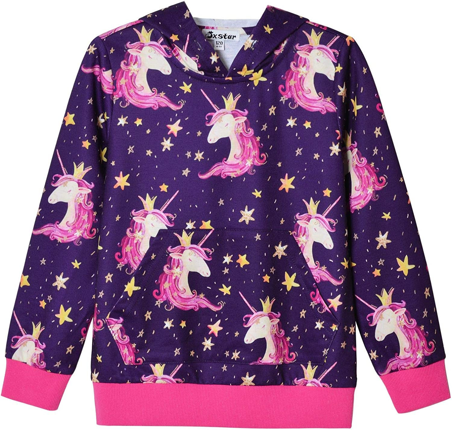 Jxstar Hoodie for Girls Unicorn Cat Sweatshirt Pullover Shirts Clothes for Kids: Clothing