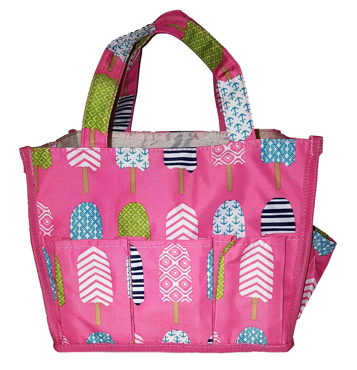 12 Outside Pockets Small Fashion Organizing Tote Bag Personalization Available