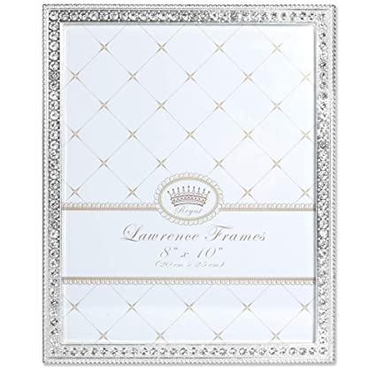880722c1777 Image Unavailable. Image not available for. Color  Lawrence Frames 8x10  Sarah Silver Metal Crystal ...