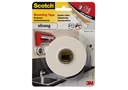 Scotch nastro biadesivo 3m forte in schiuma bianco: amazon.it: fai