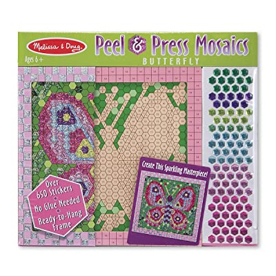 Melissa & Doug Peel & Press Sticker by Number - Butterfly: Melissa & Doug: Toys & Games