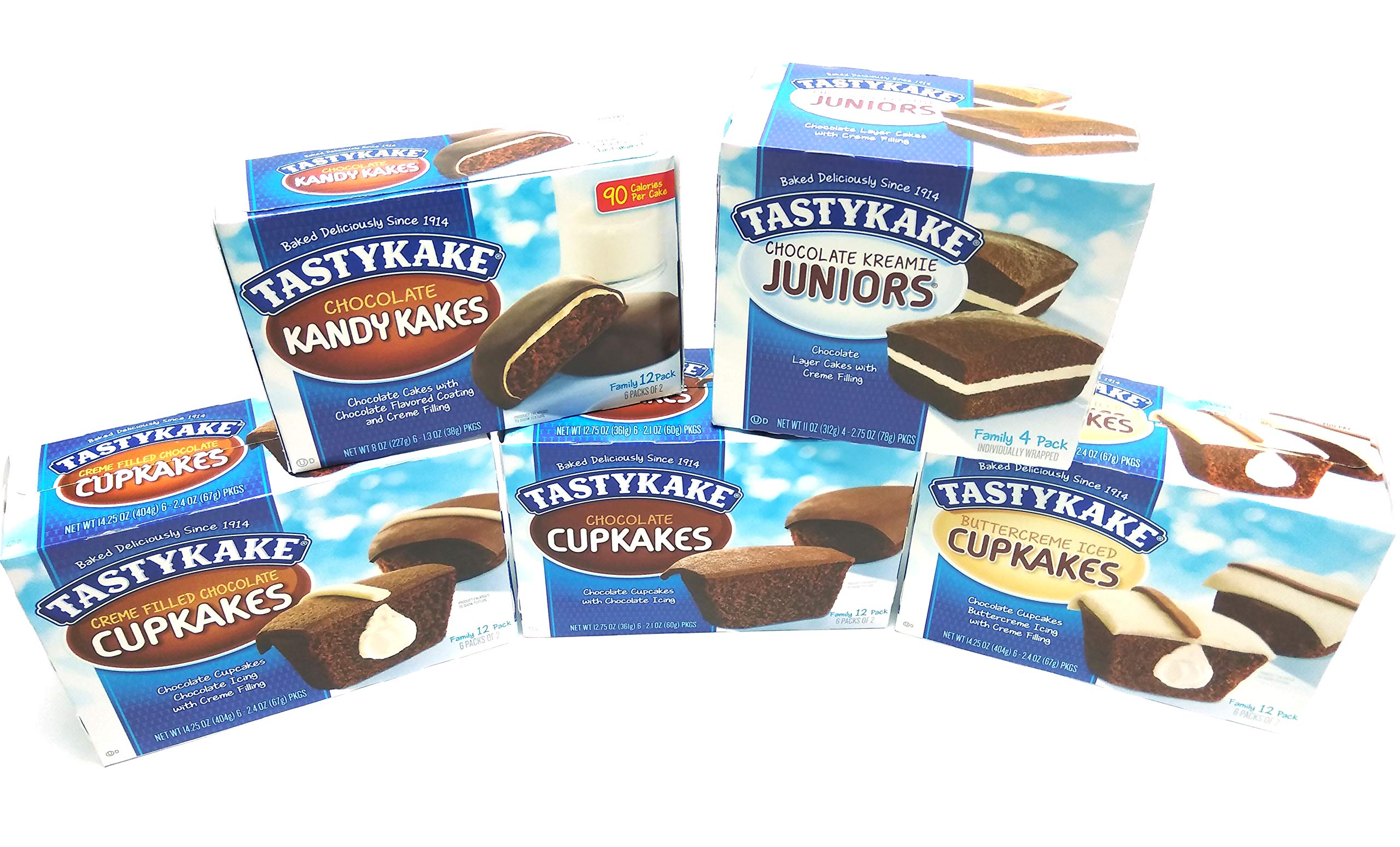 Tastykake Ultimate Chocolate Lovers Assortment | 5 Boxes Snack Cakes | Chocolate Cupcakes, Creme Filled Cupkakes, Buttercreme Iced Cake, Chocolate Kandy Kakes & Kreamie Juniors ... by Tastykake