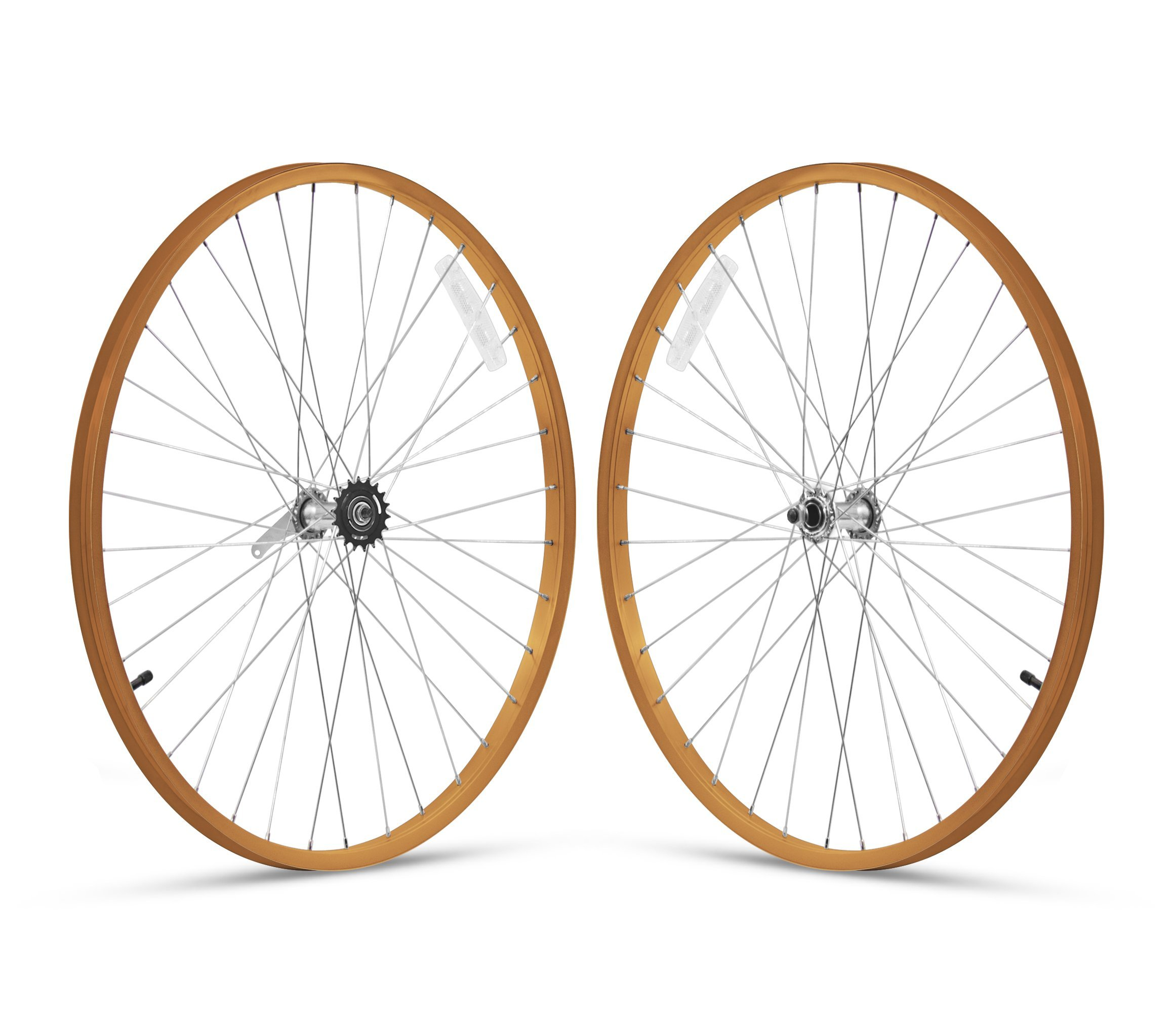Firmstrong 1-Speed Beach Cruiser Bicycle Wheelset, Front/Rear, Orange, 26''