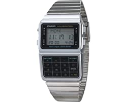 Casio Men's DATABANK Digital Watch with Stainless Steel Strap, Silver-Tone, 22 (Model: DBC611-1VT)