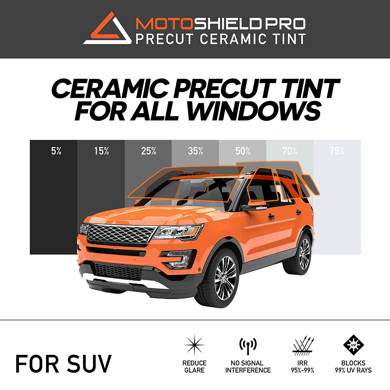 PreCut Ceramic Tint Film by MotoShield Pro