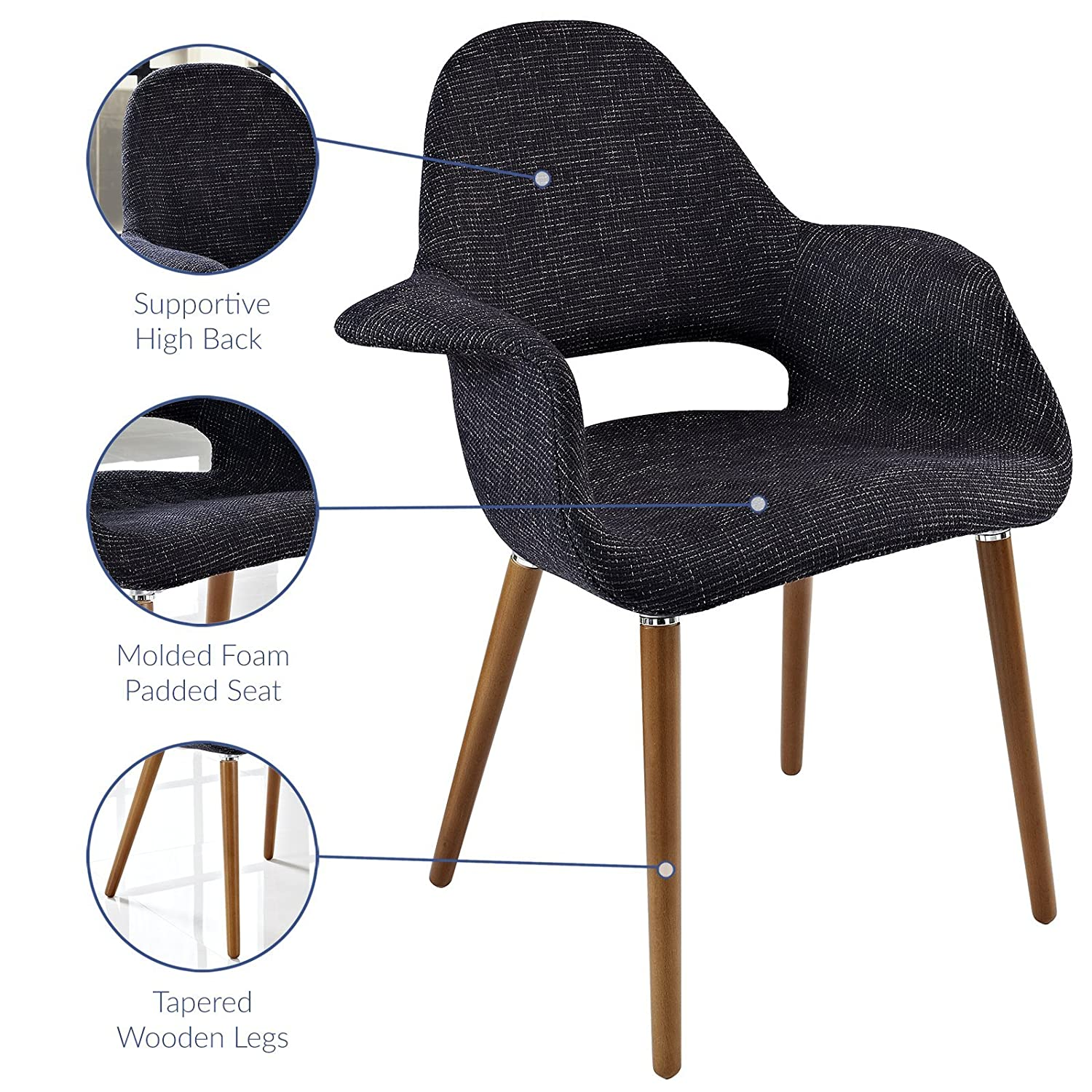 Modway Veer Accent Chair Black