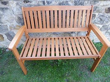 Pleasant Uk Gardens Heavy Duty Wooden 2 Seater Garden Bench Quality Hardwood Pdpeps Interior Chair Design Pdpepsorg