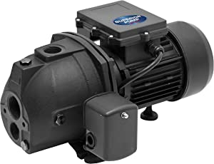 Superior Pump 94115 1 HP Cast Iron Convertible Jet Pump, Black