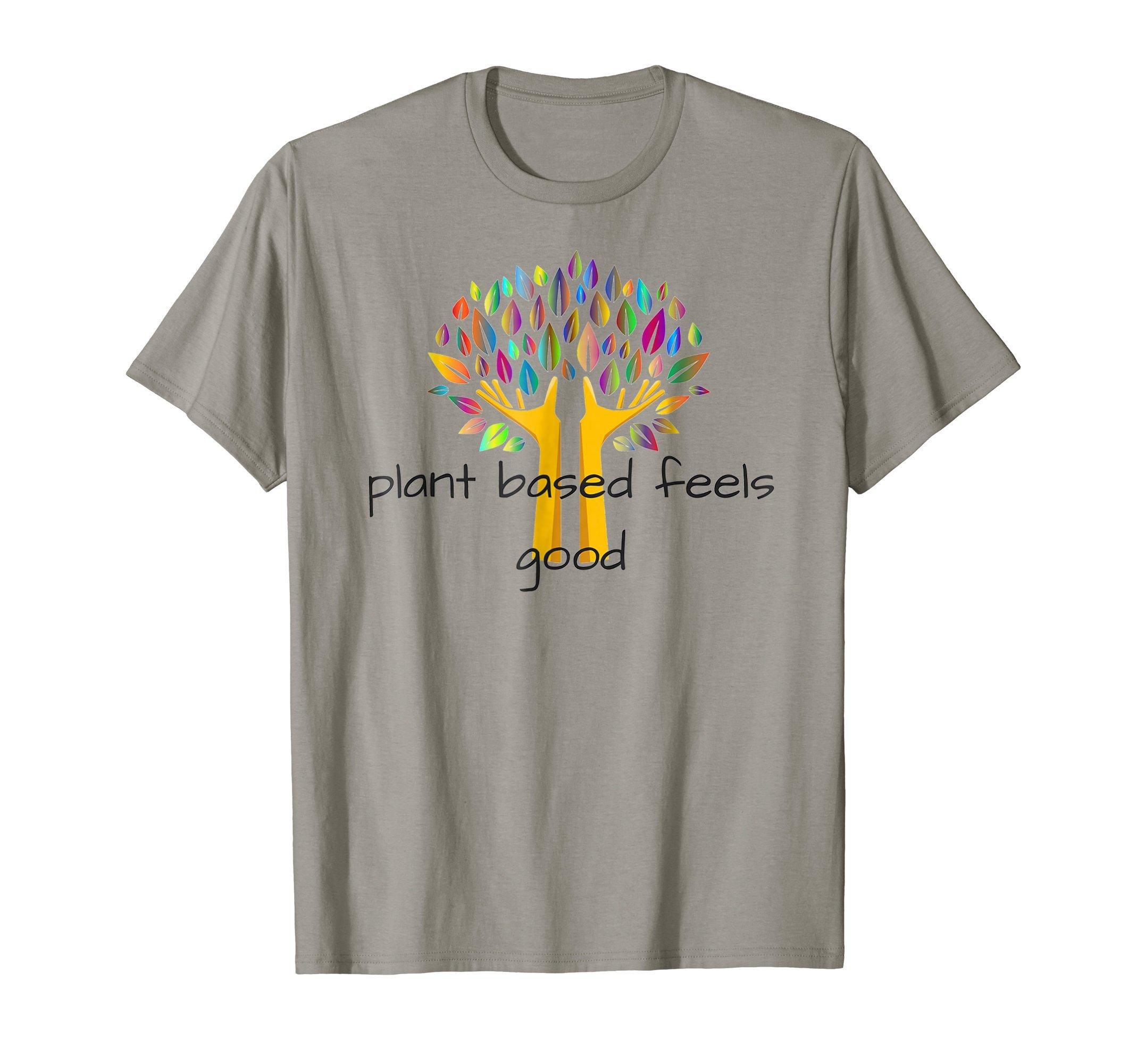 Plant Based Feels Good Colorful Tree T-Shirt