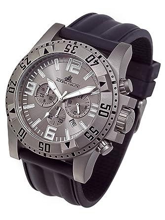Adora Nautic Titanio Reloj de hombre con banda de silicona 50 mm Chrono Fecha an2990: Amazon.es: Relojes