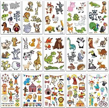 SZSMART Squalo Tatuaggi Temporanei per Bambini Falso Tatuaggio Tattoos Adesivi per Feste di Compleanni per Bambini Ragazzi Sacchetti Regalo Giocattolo